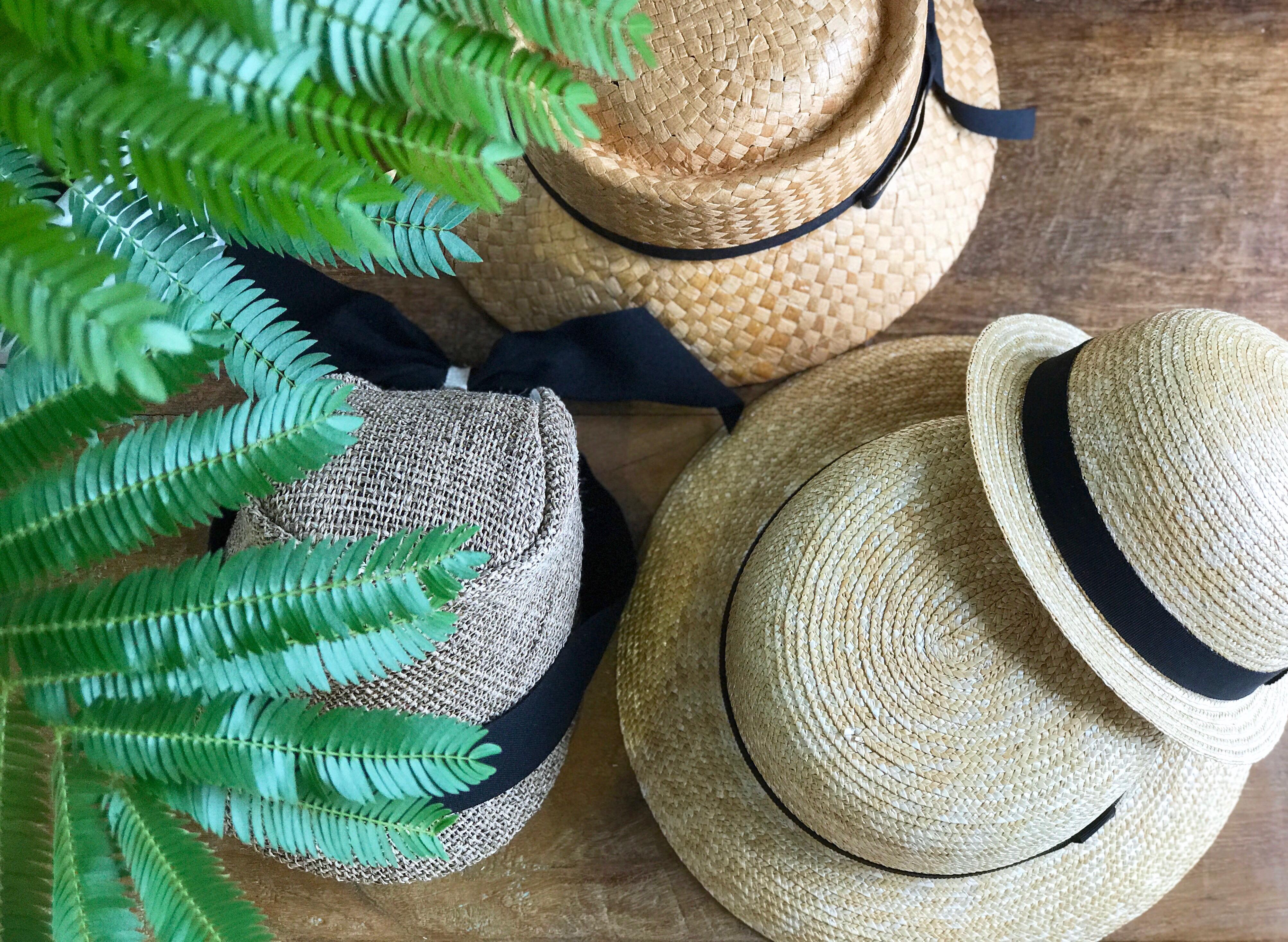 麦わら帽子で快適な夏を